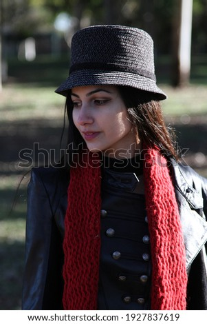 Middle Eastern girl in a park Royalty-Free Stock Photo #1927837619