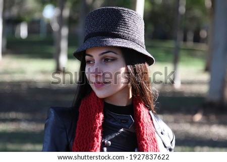 Middle Eastern girl in a park Royalty-Free Stock Photo #1927837622