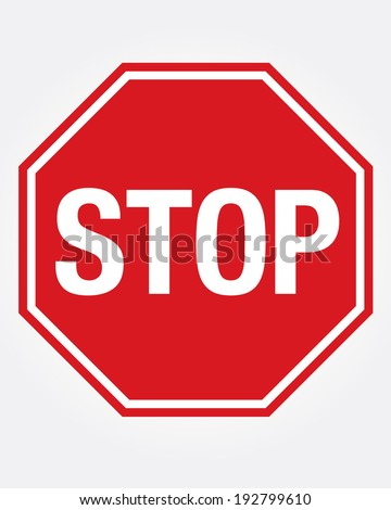 Vector Stop Sign Icon Royalty-Free Stock Photo #192799610