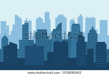 Stacked City Building Cityscape Skyline Business Illustration Royalty-Free Stock Photo #1928080682