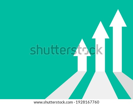 business arrow target direction concept to success. Finance growth vector Royalty-Free Stock Photo #1928167760
