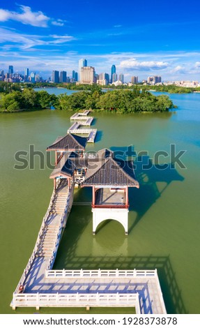 West Lake Scenic Area, Huizhou City, Guangdong Province, China