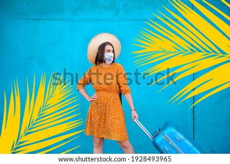 Young woman getting ready for her summer holiday
