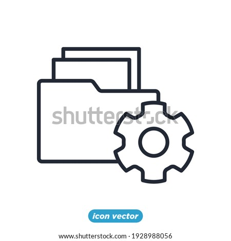 document project icon. Business and finance document project symbol template for graphic and web design collection logo vector illustration Royalty-Free Stock Photo #1928988056