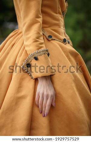 beautiful vintage baroque victorian costume  Royalty-Free Stock Photo #1929757529