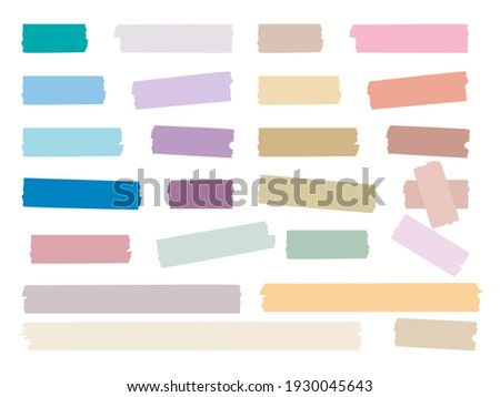 Sticky strips. Colored decorative tape mini washi sticker decoration set