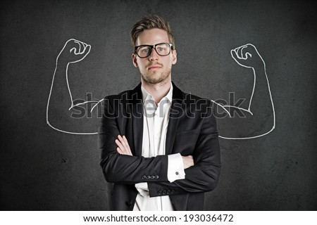 Strong Businessman Royalty-Free Stock Photo #193036472