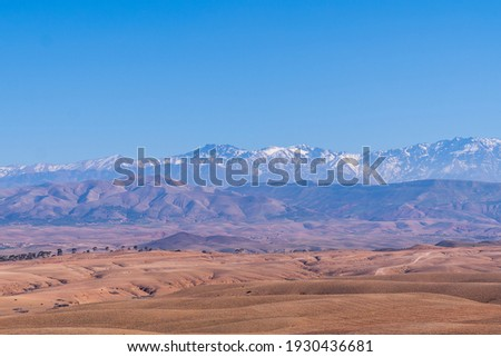 A beautiful view of the atlas mountain, Morocco Royalty-Free Stock Photo #1930436681