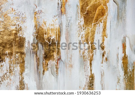The texture of the oriental style of gray and gold canvas with an abstract pattern, close-up. Royalty-Free Stock Photo #1930636253