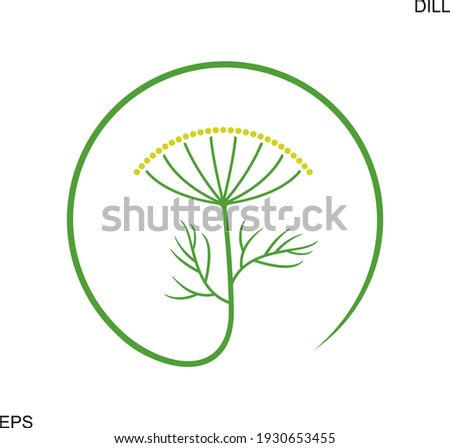 Dill logo. Isolated dill on white background Royalty-Free Stock Photo #1930653455