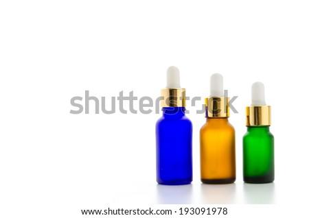 Cosmetics bottles isolated on white #193091978
