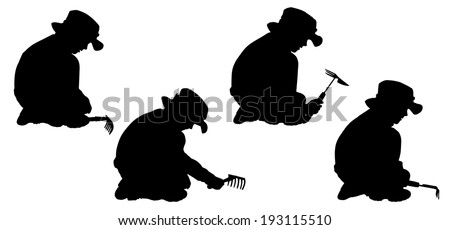 Vector silhouette of boy on a white background. #193115510