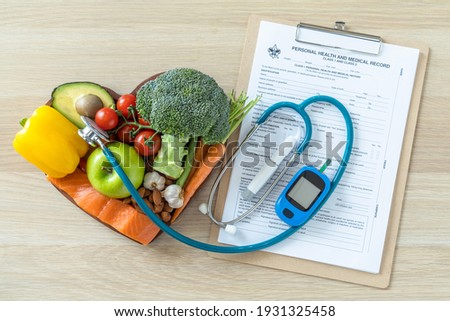 Keto food for ketogenic diet, healthy nutritional food eating lifestyle for good heart health with high protein, fat, low-carb to prevent heart disease and diabetes illness control Royalty-Free Stock Photo #1931325458
