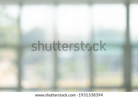 white window blurry background for texture. Royalty-Free Stock Photo #1931338394