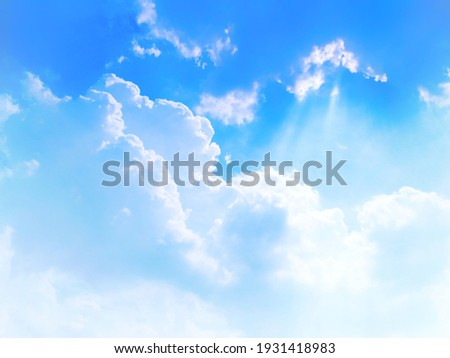 Natural sky beautiful blue and white texture background Royalty-Free Stock Photo #1931418983