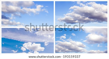 collection of images of blue sky with clouds #193159337