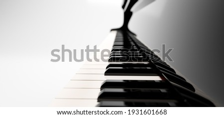 Classic grand piano keyboard close-up Royalty-Free Stock Photo #1931601668