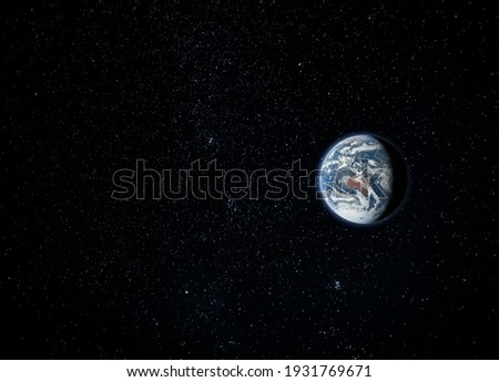 Planet Earth, view from space (Elements of this image furnished by NASA)