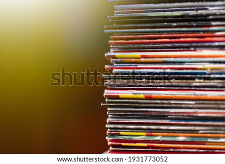 a stack of old comics on the table