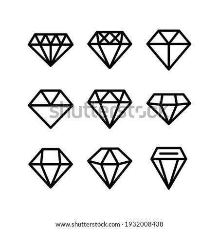 diamond icon or logo isolated sign symbol vector illustration - Collection of high quality black style vector icons