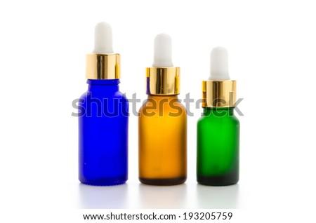 Cosmetics bottles isolated on white #193205759