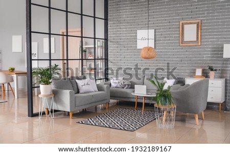 Stylish interior of living room