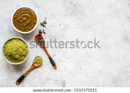 Henna powder and henna paste for herbal natural hair dye