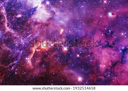 Awesome of endless cosmos. Science fiction wallpaper. Elements of this image furnished by NASA. Royalty-Free Stock Photo #1932514658