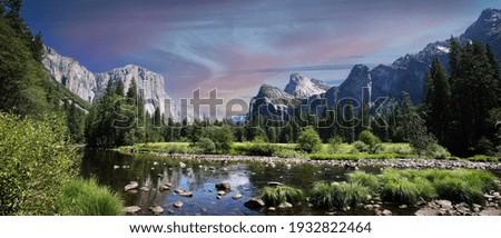 Yosemite Valley in the Yosemite National Park in California - USA Royalty-Free Stock Photo #1932822464