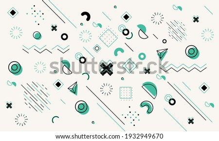 Colorful geometric background. Minimal cover template design for web. Modern abstract background with geometric shapes and lines. Eps10 Vector