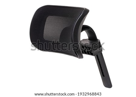 Spare parts isolated. Closeup of a headrest for a office or computer chair isolated on a white background. Macro. Royalty-Free Stock Photo #1932968843