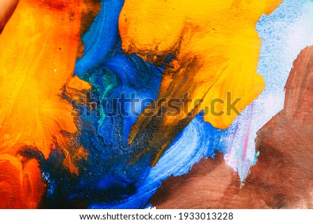 abstract oil paint texture on canvas, background Royalty-Free Stock Photo #1933013228