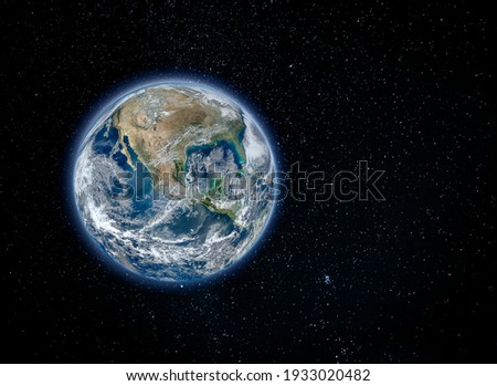 Planet Earth, North America view from space (Elements of this image furnished by NASA)