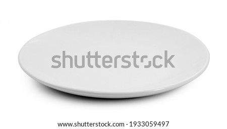 white plate isolated on white background. Royalty-Free Stock Photo #1933059497