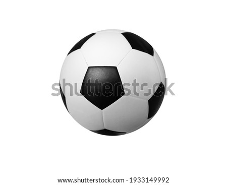 Soccer ball on a white background for a sports team Royalty-Free Stock Photo #1933149992