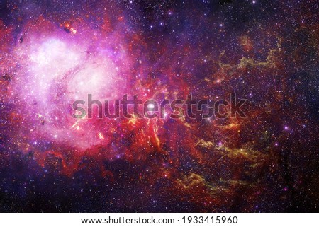 Endless universe with stars and galaxies in outer space. Cosmos art. Elements of this image furnished by NASA. Royalty-Free Stock Photo #1933415960