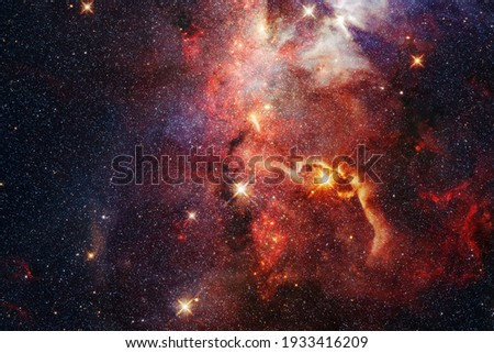 Outer space. Science fiction cosmos. Elements of this image furnished by NASA Royalty-Free Stock Photo #1933416209
