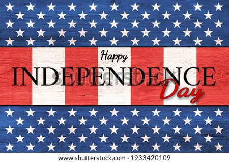 USA Independence Day banner background Royalty-Free Stock Photo #1933420109