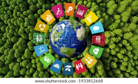Environmental technology concept. Sustainable development goals. SDGs. Royalty-Free Stock Photo #1933812668