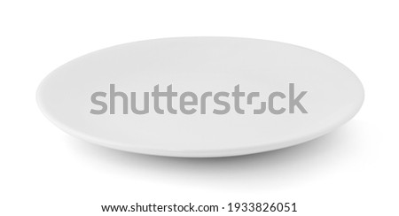 white plate isolated on white background Royalty-Free Stock Photo #1933826051