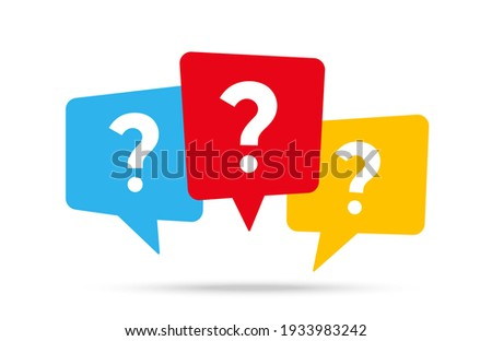 Message box with question mark icon Royalty-Free Stock Photo #1933983242
