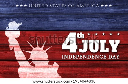 USA Independence Day banner background Royalty-Free Stock Photo #1934044838