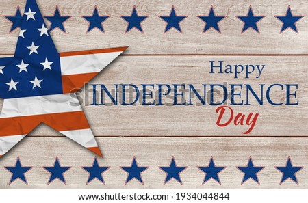 USA Independence Day banner background Royalty-Free Stock Photo #1934044844