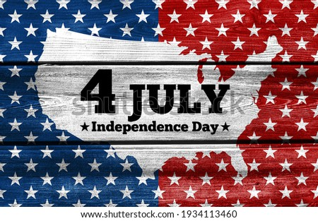 USA Independence Day banner background Royalty-Free Stock Photo #1934113460
