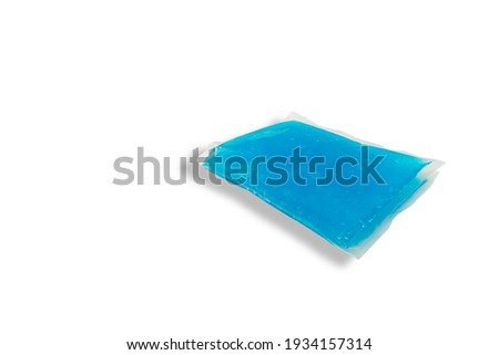 Cool and hot pack gel,Medical supplies to relieve injuries isolated on white background medical supplies concept.