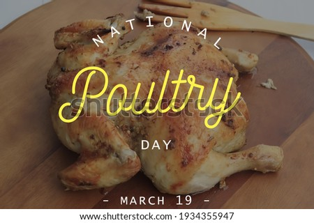 National poultry day, text in image, 19 March