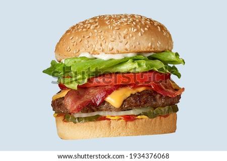 Simple hamburger patty recipe background picture