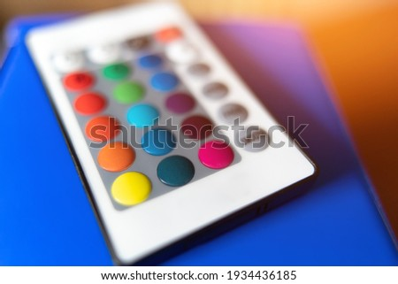 close-up RGB light source control panel.