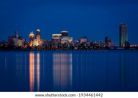 The skyline of Buffalo in New York State