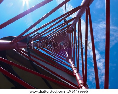 met mast wind , Transmission tower  Royalty-Free Stock Photo #1934496665